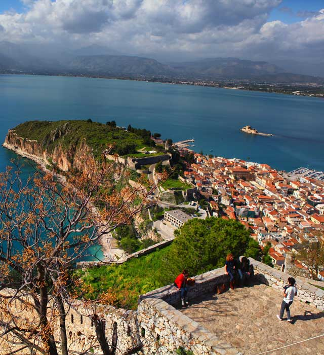 View of Nafplio from the Palamidi
